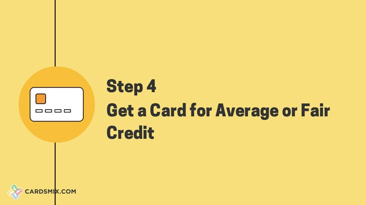 Get a card for average credit now